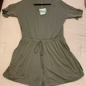 Women's  Army Green Romper